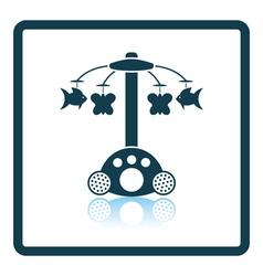 Baby carousel icon vector