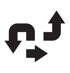 base arrow set icon symbol black white silhouette vector image