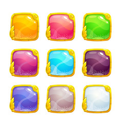 Beautiful colorful square buttons vector