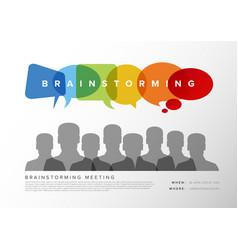 brainstorming meeting template vector image