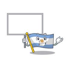 Bring board flag argentina cartoon shaped vector
