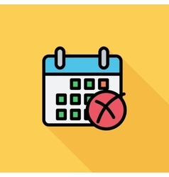 Calendar with cross vector