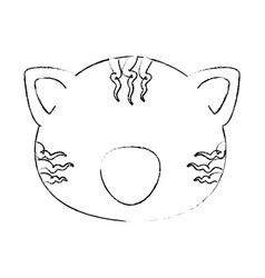 cartoon tiger animal icon vector image