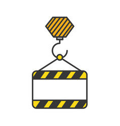 construction banner hanging icon vector image