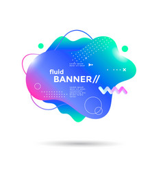 creative design fluid banner with futuristic shape vector image
