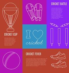 Cricket game concept vector
