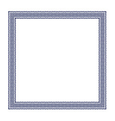 decorative greek frame vector image