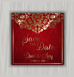 Decorative save the date design vector