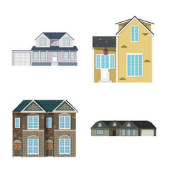 design of building and front icon vector image