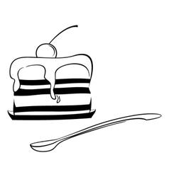 Dessert sketch vector image