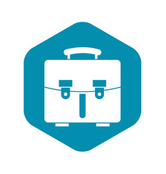 Diplomat bag icon simple style vector