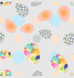 easter background with eggs decorative esater vector image