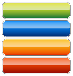 Empty rectangular button banner backgrounds with vector