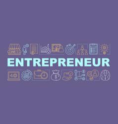 Entrepreneur word concepts banner vector