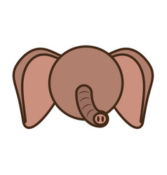 face elephant cartoon animal vector image