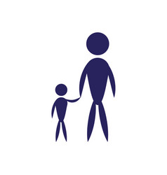 Father and son pictogram flat icon family concept vector