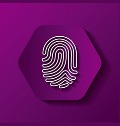 fingerprint icon image vector image