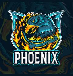 Fire eagle phoenix as an e-sport logo vector