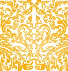 Floral art gold color vector