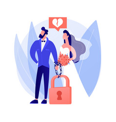 Forced marriage abstract concept vector