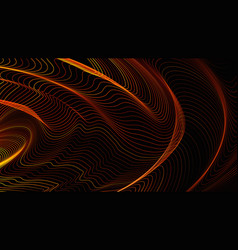 geometric background with dynamic waves vector image