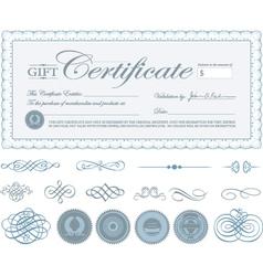 Gift Certificate vector