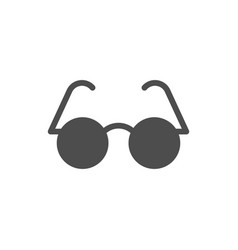 Glasses for sight glyph icon vector