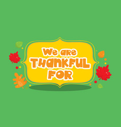 Gobble give thanks banner thankful 07 vector