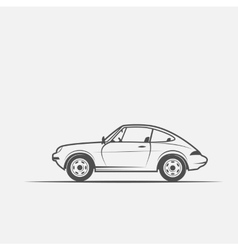 grayscale image car vector image