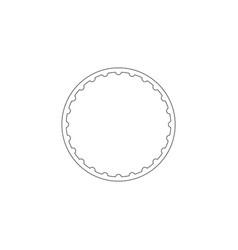 gymnastic hula hoop flat icon vector image
