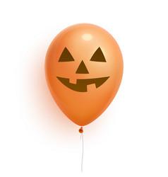 halloween balloon 3d realistic lantern jack face vector image