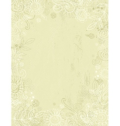 hand draw flowers on beige background vector image