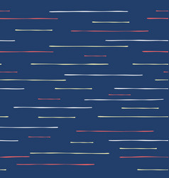 Hand drawn textured maritime stripes seamless vector