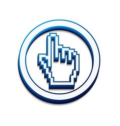 Hand mouse cursor vector