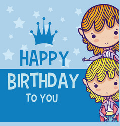 Happy Birthday Card For Boys Vector