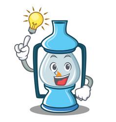 Have an idea lantern character cartoon style vector