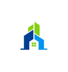 house building abstract logo vector image vector image