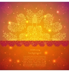 Indian style background with ribbon and label vector