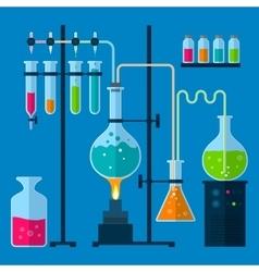 Laboratory equipment concept vector