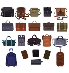 Man bag manlike fashion handbag or business vector