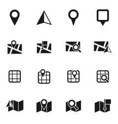 Map icon vector