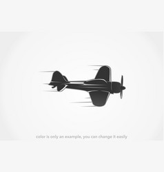military jet plane silhouette vector image
