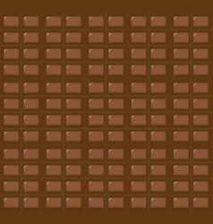 milk chocolate bar seamless pattern dark vector image