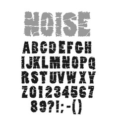 noisy font with scratches vector image