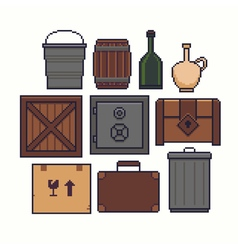 Pixel Art Containers vector