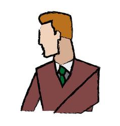 portrait of businessman gesturing person vector image