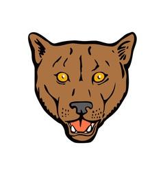 Puma Woodcut Retro vector