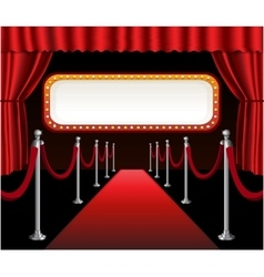 red carpet movie premiere elegant event vector image