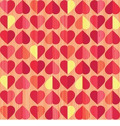 Retro heart seamless pattern vector
