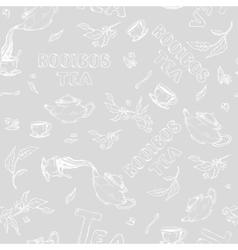 seamless pattern sketch of items bun-fight vector image